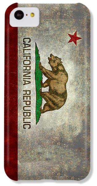California Republic State Flag Retro Style IPhone 5c Case by Bruce Stanfield