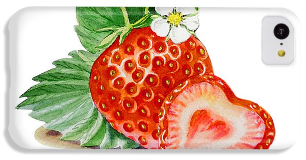 Artz Vitamins A Strawberry Heart IPhone 5c Case by Irina Sztukowski