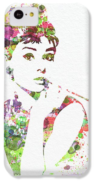 Audrey Hepburn 2 IPhone 5c Case by Naxart Studio