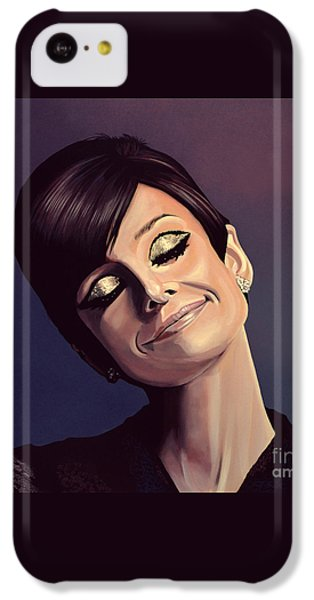 Audrey Hepburn Painting IPhone 5c Case by Paul Meijering