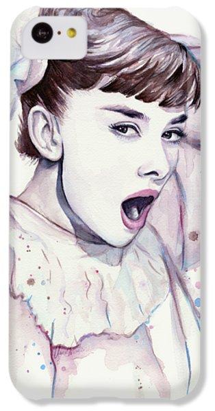 Audrey - Purple Scream IPhone 5c Case by Olga Shvartsur