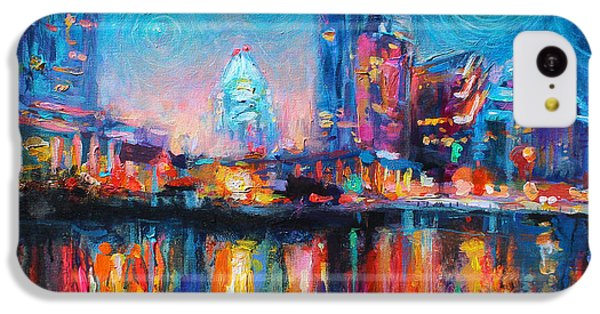 Austin Art Impressionistic Skyline Painting #2 IPhone 5c Case by Svetlana Novikova