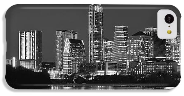 Austin Skyline At Night Black And White Bw Panorama Texas IPhone 5c Case by Jon Holiday