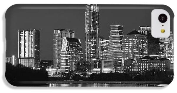 Austin Skyline At Night Black And White Bw Panorama Texas IPhone 5c Case by Jon Holiday