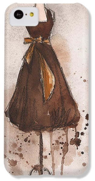 Autumn's Gold Vintage Dress IPhone 5c Case by Lauren Maurer