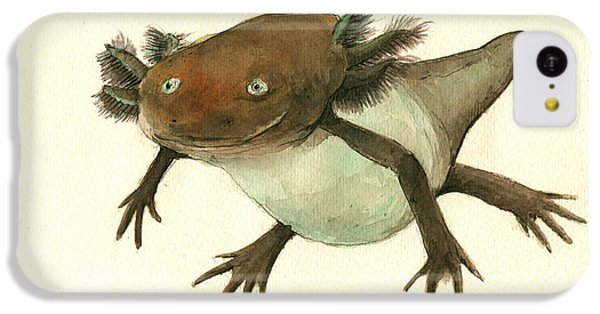 Axolotl IPhone 5c Case by Juan Bosco