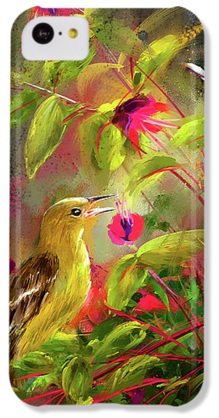 Baltimore Oriole Art- Baltimore Female Oriole Art IPhone 5c Case by Lourry Legarde
