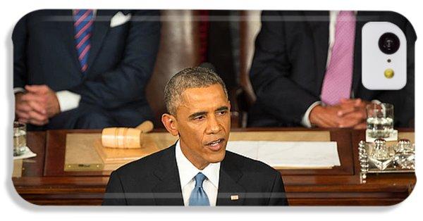 Barack Obama 2015 Sotu Address IPhone 5c Case by Science Source