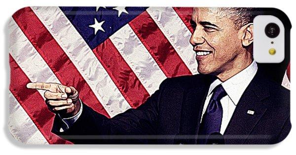 Barack Obama IPhone 5c Case by Iguanna Espinosa