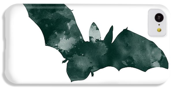 Bat Minimalist Watercolor Painting For Sale IPhone 5c Case by Joanna Szmerdt