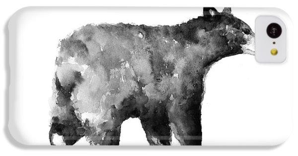 Bear Watercolor Drawing Poster IPhone 5c Case by Joanna Szmerdt