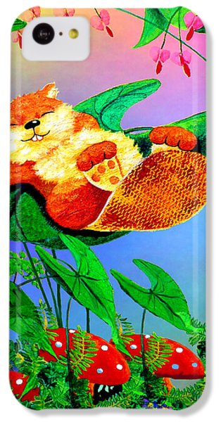 Beaver Bedtime IPhone 5c Case by Hanne Lore Koehler
