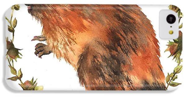 Beaver Painting IPhone 5c Case by Alison Fennell