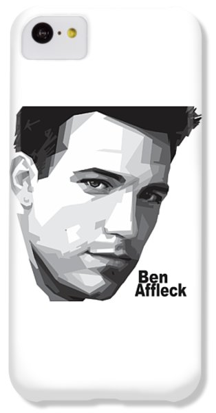 Ben Affleck Portrait Art IPhone 5c Case by Madiaz Roby