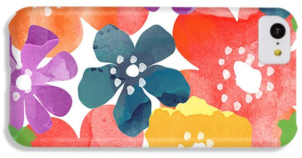 Big Bright Flowers IPhone 5c Case by Linda Woods
