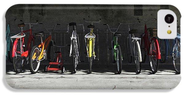 Bike Rack IPhone 5c Case by Cynthia Decker