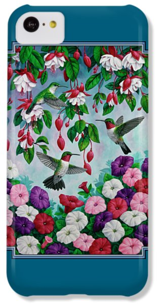 Bird Painting - Hummingbird Heaven IPhone 5c Case by Crista Forest