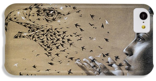 Birds Of Poetry  IPhone 5c Case by Fithi Abraham