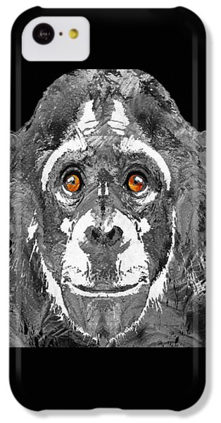 Black And White Art - Monkey Business 2 - By Sharon Cummings IPhone 5c Case by Sharon Cummings
