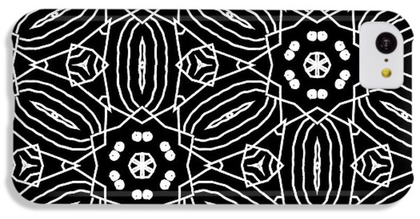 Black And White Boho Pattern 2- Art By Linda Woods IPhone 5c Case by Linda Woods