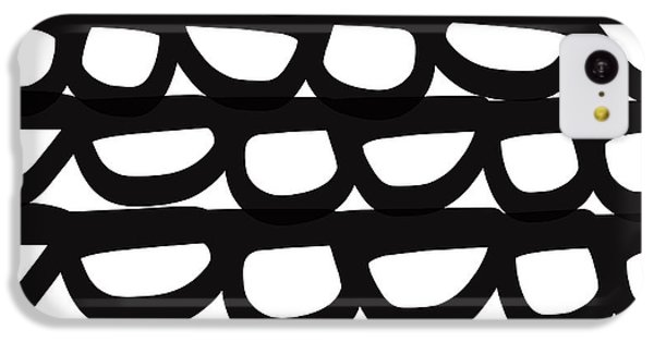 Black And White Pebbles- Art By Linda Woods IPhone 5c Case by Linda Woods