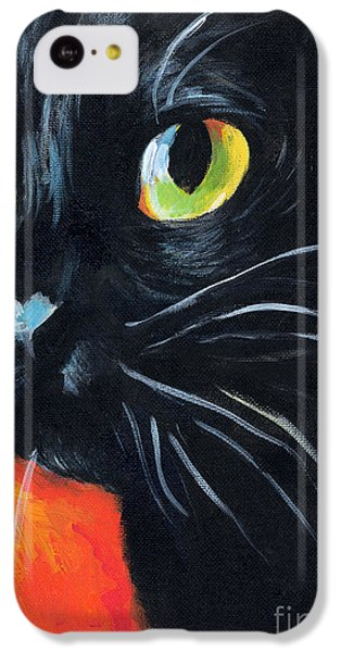 Black Cat Painting Portrait IPhone 5c Case by Svetlana Novikova