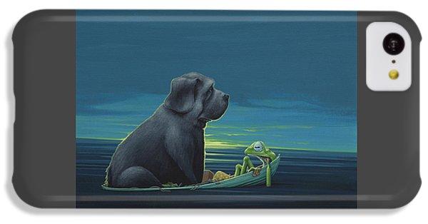 Black Dog IPhone 5c Case by Jasper Oostland