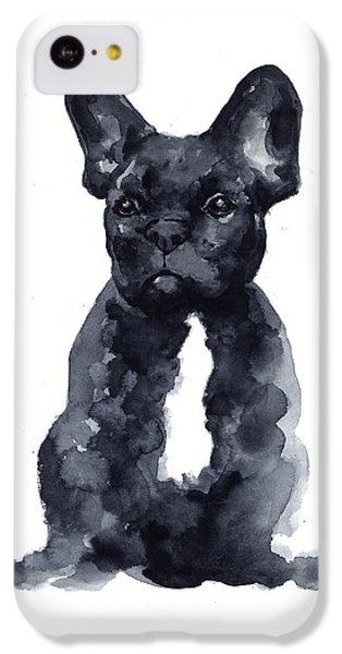 Black French Bulldog Watercolor Poster IPhone 5c Case by Joanna Szmerdt
