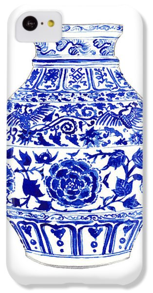 Blue And White Ginger Jar Chinoiserie 4 IPhone 5c Case by Laura Row