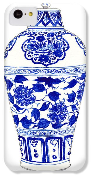 Blue And White Ginger Jar Chinoiserie Jar 1 IPhone 5c Case by Laura Row