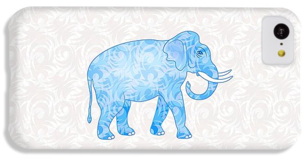 Blue Damask Elephant IPhone 5c Case by Antique Images
