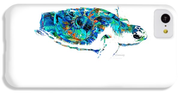 Blue Sea Turtle By Sharon Cummings  IPhone 5c Case by Sharon Cummings