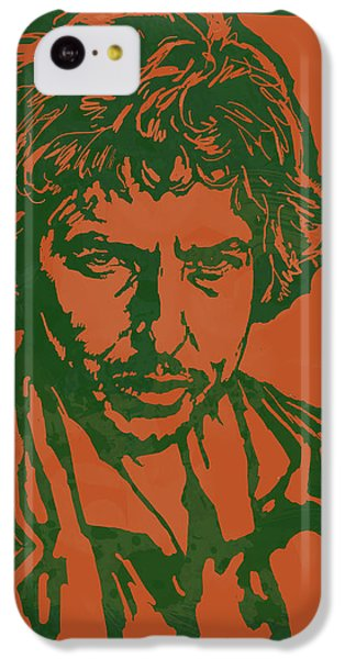 Bob Dylan Pop Stylised Art Sketch Poster IPhone 5c Case by Kim Wang