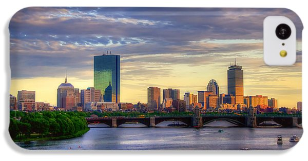 Boston Skyline Sunset Over Back Bay IPhone 5c Case by Joann Vitali