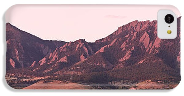 Boulder Colorado Flatirons 1st Light Panorama IPhone 5c Case by James BO  Insogna