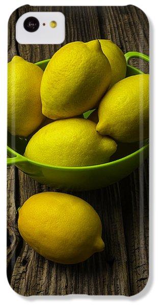 Bowl Of Lemons IPhone 5c Case by Garry Gay