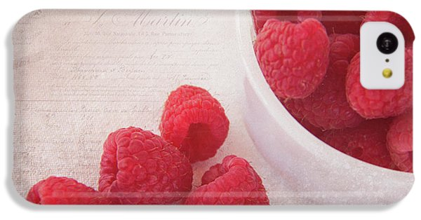 Bowl Of Red Raspberries IPhone 5c Case by Cindi Ressler