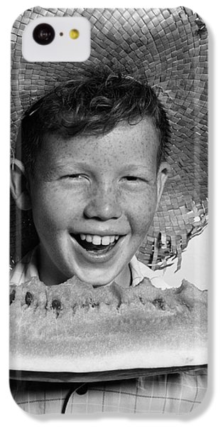 Boy Eating Watermelon, C.1940-50s IPhone 5c Case by H. Armstrong Roberts/ClassicStock