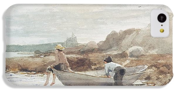 Boys On The Beach IPhone 5c Case by Winslow Homer