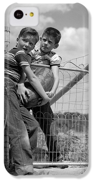 Boys Stealing A Watermelon, C.1950s IPhone 5c Case by H. Armstrong Roberts/ClassicStock