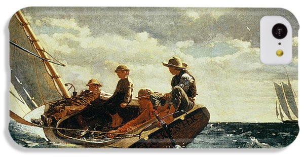 Breezing Up IPhone 5c Case by Winslow Homer