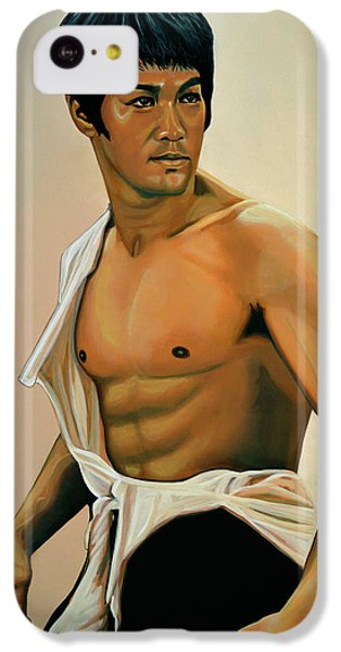 Bruce Lee Painting IPhone 5c Case by Paul Meijering
