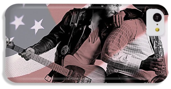 Bruce Springsteen Clarence Clemons IPhone 5c Case by Marvin Blaine