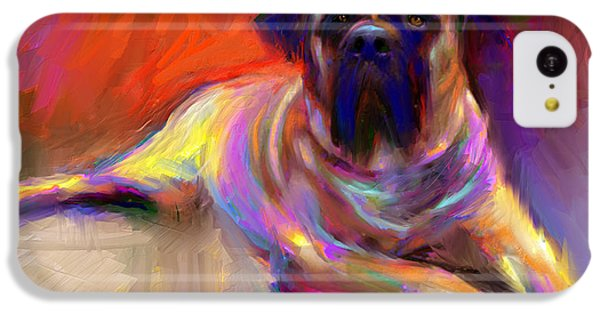 Bullmastiff Dog Painting IPhone 5c Case by Svetlana Novikova
