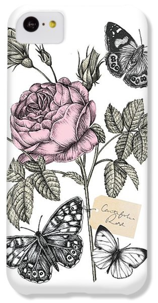 Cabbage Rose IPhone 5c Case by Stephanie Davies