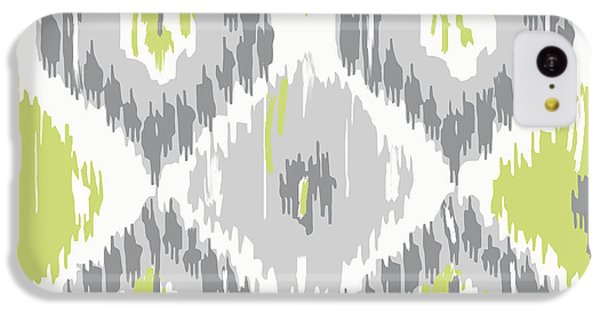 Calyx Ikat Pattern IPhone 5c Case by Mindy Sommers