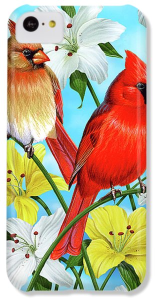 Cardinal Day IPhone 5c Case by JQ Licensing