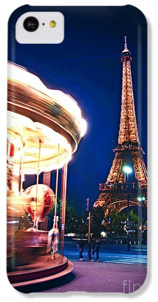 Carousel And Eiffel Tower IPhone 5c Case by Elena Elisseeva