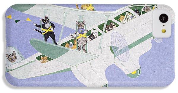 Cat Air Show IPhone 5c Case by Pat Scott