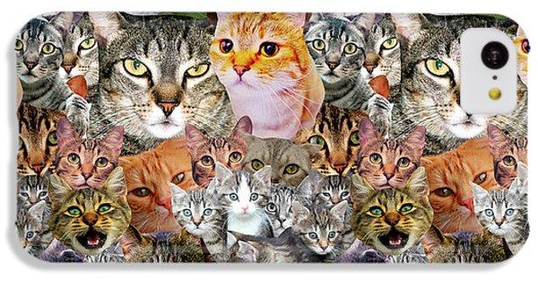 Cats IPhone 5c Case by Gloria Sanchez